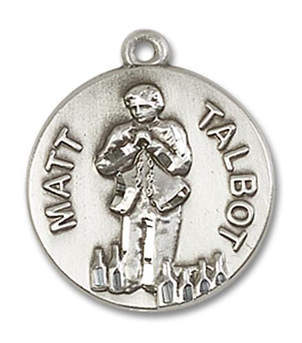 """Blessed Matt Talbot Medal - Sterling Silver 3/4"""" x 3/4"""" Pendant (0821SS)"""